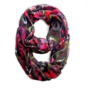 J Jill | Infinity Scarf Black Floral New